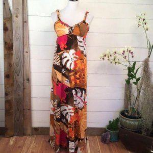 Maxi Dress V Neck With Empire Waist.